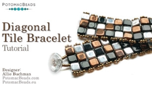 How to Bead Jewelry / Beading Tutorials & Jewel Making Videos / Bracelet Projects / Diagonal Tile Bracelet Tutorial