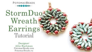 How to Bead / Free Video Tutorials / Earring Projects / StormDuo Wreath Tutorial