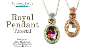 How to Bead Jewelry / Beading Tutorials & Jewel Making Videos / Pendant Projects / Royal Pendant Tutorial