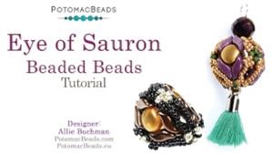 How to Bead / Free Video Tutorials / Beaded Beads / Eye of Sauron Beaded Beads