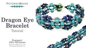 How to Bead Jewelry / Beading Tutorials & Jewel Making Videos / Bracelet Projects / Dragon Eye Bracelet Tutorial