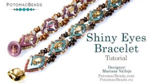How to Bead Jewelry / Beading Tutorials & Jewel Making Videos / Bracelet Projects / Shiny Eyes Bracelet Tutorial