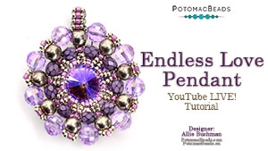 How to Bead Jewelry / Beading Tutorials & Jewel Making Videos / Pendant Projects / Endless Love Pendant