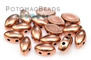 Czech Glass / 2-Hole Beads / Potomax IrisDuo Metal Beads