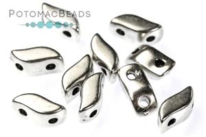 Czech Glass / 2-Hole Beads / Potomax StormDuo Metal Beads