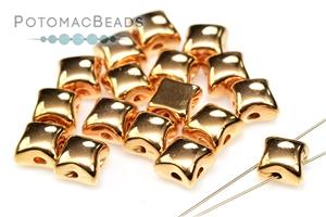 Czech Glass / 2-Hole Beads / Potomax WibeDuo Metal Beads