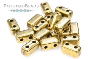 Other Beads & Supplies / Metal Beads & Findings / Potomax Metal Multi-Hole Beads / Potomax Brick Metal Beads