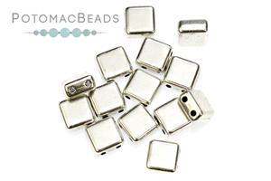 Czech Pressed Glass Beads / Czech Glass & Japanese Two Hole Beads / Potomax Tile Metal Beads
