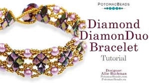 How to Bead Jewelry / Beading Tutorials & Jewel Making Videos / Bracelet Projects / Diamond DiamonDuo Bracelet Tutorial