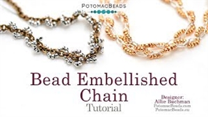 How to Bead / Free Video Tutorials / Stringing & Knotting Projects / Bead Embellished Chain Tutorial