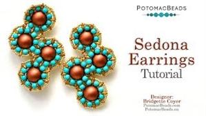 How to Bead Jewelry / Beading Tutorials & Jewel Making Videos / Earring Projects / Sedona Earrings Tutorial