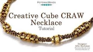 How to Bead Jewelry / Beading Tutorials & Jewel Making Videos / Bead Weaving Tutorials & Necklace Tutorial / Creative CRAW Cube Necklace Tutorial