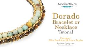 How to Bead Jewelry / Beading Tutorials & Jewel Making Videos / Bead Weaving Tutorials & Necklace Tutorial / Dorado Bracelet or Necklace Tutorial