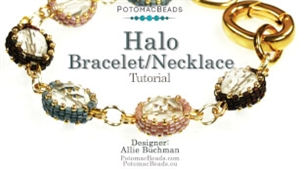 How to Bead Jewelry / Beading Tutorials & Jewel Making Videos / Bead Weaving Tutorials & Necklace Tutorial / Halo Bracelet (Or Necklace) Tutorial