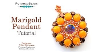 How to Bead Jewelry / Beading Tutorials & Jewel Making Videos / Pendant Projects / Marigold Pendant Tutorial