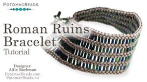 How to Bead / Free Video Tutorials / Bracelet Projects / Roman Ruins Bracelet Tutorial
