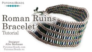 How to Bead Jewelry / Beading Tutorials & Jewel Making Videos / Bracelet Projects / Roman Ruins Bracelet Tutorial