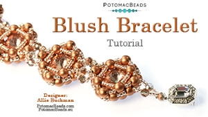 How to Bead / Free Video Tutorials / Beadweaving & Component Projects / Blush Bracelet, Earrings or Pendant Tutorial
