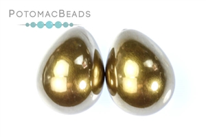 Other Beads & Supplies / Pearls / Resin Half-Drilled Pearls