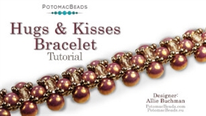How to Bead / Free Video Tutorials / Necklace Projects / Hugs & Kisses Bracelet or Necklace Tutorial