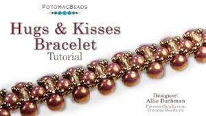 How to Bead Jewelry / Beading Tutorials & Jewel Making Videos / Bead Weaving Tutorials & Necklace Tutorial / Hugs & Kisses Bracelet or Necklace Tutorial