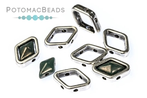Jewelry Making Supplies & Beads / Metal Beads & Beads Findings / Potomax Metal Multi-Hole Beads / Halo Bead for Diamond Shapes