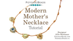 How to Bead Jewelry / Beading Tutorials & Jewel Making Videos / Bead Weaving Tutorials & Necklace Tutorial / Modern Mother's Necklace Tutorial