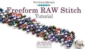 How to Bead Jewelry / Beading Tutorials & Jewel Making Videos / Bracelet Projects / FreeForm Raw Stitch Bracelet Tutorial