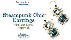 How to Bead Jewelry / Beading Tutorials & Jewel Making Videos / Earring Projects / Steampunk Chic Earrings