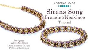 How to Bead Jewelry / Beading Tutorials & Jewel Making Videos / Bead Weaving Tutorials & Necklace Tutorial / Sirens Song Bracelet or Necklace Tutorial