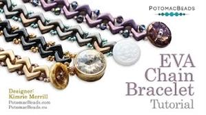 How to Bead Jewelry / Videos Sorted by Beads / EVA® Bead Videos / EVA Chain  Bracelet Tutorial