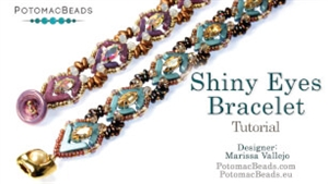 How to Bead Jewelry / Videos Sorted by Beads / Potomac Crystal Videos / Shiny Eyes Bracelet Tutorial
