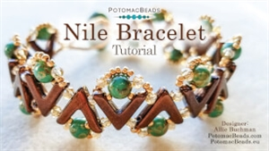 How to Bead Jewelry / Videos Sorted by Beads / Potomac Crystal Videos / Nile Bracelet Beadweaving Tutorial
