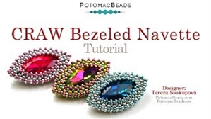 How to Bead Jewelry / Videos Sorted by Beads / Potomac Crystal Videos / How to Bezel Navette Crystal with a Craw Stitch Tutorial