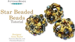 How to Bead Jewelry / Videos Sorted by Beads / Potomac Crystal Videos / Star Beaded Beads Tutorial