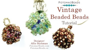 How to Bead Jewelry / Videos Sorted by Beads / Potomac Crystal Videos / Vintage Beaded Ball Tutorial