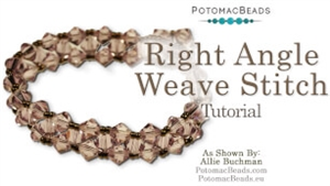 How to Bead Jewelry / Beading Tutorials & Jewel Making Videos / Basic Beadweaving Stitches / Right Angle Weave (RAW) Stitch Tutorial
