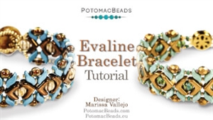 How to Bead Jewelry / Videos Sorted by Beads / EVA® Bead Videos / Evaline Bracelet Tutorial