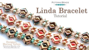 How to Bead Jewelry / Videos Sorted by Beads / Potomac Crystal Videos / Linda Bracelet Tutorial