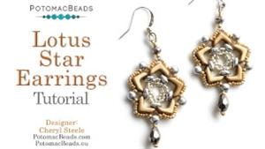 How to Bead / Videos Sorted by Beads / EVA® Bead Videos / Lotus Star Earring Tutorial