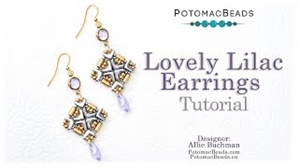 How to Bead Jewelry / Videos Sorted by Beads / Potomac Crystal Videos / Lovely Lilac Earrings Tutorial