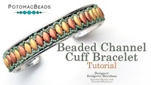 How to Bead Jewelry / Videos Sorted by Beads / IrisDuo® Bead Videos / Beaded Channel Cuff Bracelet Tutorial