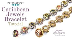 How to Bead Jewelry / Videos Sorted by Beads / Potomac Crystal Videos / Caribbean Jewels Bracelet Tutorial
