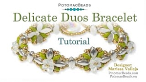 How to Bead Jewelry / Videos Sorted by Beads / Potomac Crystal Videos / Delicate Duos Bracelet Tutorial