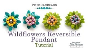 How to Bead / Videos Sorted by Beads / RounTrio® & RounTrio® Faceted Bead Videos / Wildflowers Reversible Pendant Tutorial