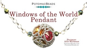 How to Bead / Videos Sorted by Beads / Potomac Crystal Videos / Windows of the World Pendant Tutorial