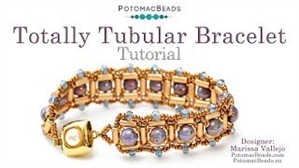 How to Bead Jewelry / Videos Sorted by Beads / RounTrio® & RounTrio® Faceted Bead Videos / Totally Tubular Bracelet Tutorial
