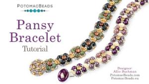 How to Bead Jewelry / Beading Tutorials & Jewel Making Videos / Bracelet Projects / Pansy Bracelet Tutorial