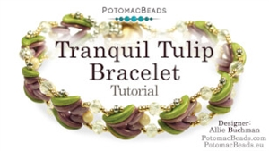 How to Bead Jewelry / Videos Sorted by Beads / Potomac Crystal Videos / Tranquil Tulip Bracelet Tutorial