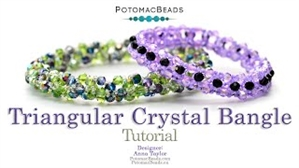 How to Bead / Videos Sorted by Beads / Potomac Crystal Videos / Triangular Crystal Bangle Tutorial